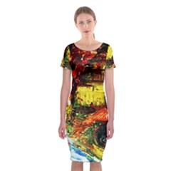 St Barbara Resort Classic Short Sleeve Midi Dress
