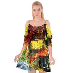 St Barbara Resort Cutout Spaghetti Strap Chiffon Dress