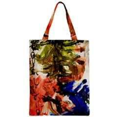 Painting And Letters Zipper Classic Tote Bag