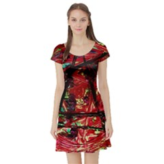 Sacred Marks Short Sleeve Skater Dress