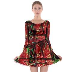 Sacred Marks Long Sleeve Skater Dress
