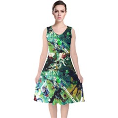 Jealousy   Battle Of Insects 4 V Neck Midi Sleeveless Dress