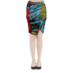 Totem 1 Midi Wrap Pencil Skirt