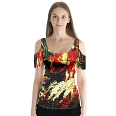 Sunset In A Desert Of Mexico 1 Butterfly Sleeve Cutout Tee