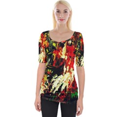 Sunset In A Desert Of Mexico 1 Wide Neckline Tee