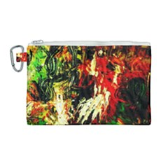 Sunset In A Desert Of Mexico 1 Canvas Cosmetic Bag (large)