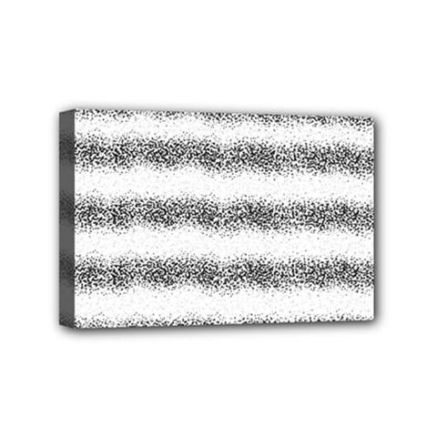 Stripe Black Mini Canvas 6  X 4