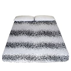 Stripe Black Fitted Sheet (queen Size)