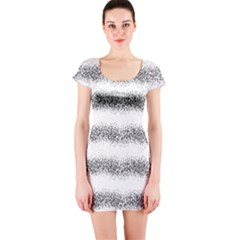 Stripe Black Short Sleeve Bodycon Dress