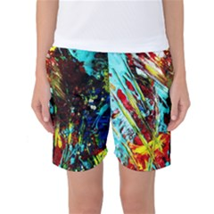 Two Hearts   One Beat 4 Women s Basketball Shorts