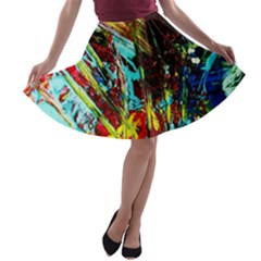 Two Hearts   One Beat 4 A Line Skater Skirt by bestdesignintheworld