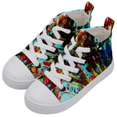 Two Hearts   One Beat 4 Kid s Mid Top Canvas Sneakers by bestdesignintheworld