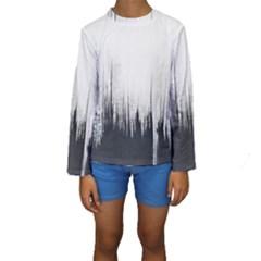 Simple Abstract Art Kids  Long Sleeve Swimwear