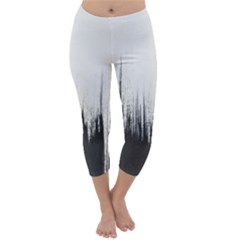 Simple Abstract Art Capri Winter Leggings