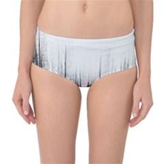 Simple Abstract Art Mid-Waist Bikini Bottoms