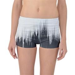 Simple Abstract Art Reversible Boyleg Bikini Bottoms