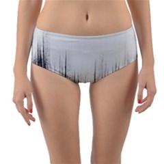Simple Abstract Art Reversible Mid-Waist Bikini Bottoms