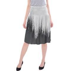 Simple Abstract Art Midi Beach Skirt