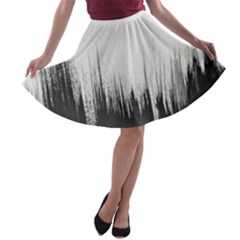 Simple Abstract Art A-line Skater Skirt