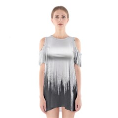 Simple Abstract Art Shoulder Cutout One Piece