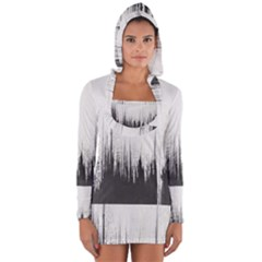 Simple Abstract Art Long Sleeve Hooded T-shirt