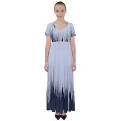 Simple Abstract Art High Waist Short Sleeve Maxi Dress