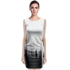 Simple Abstract Art Classic Sleeveless Midi Dress