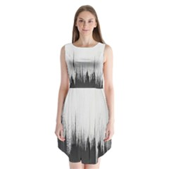 Simple Abstract Art Sleeveless Chiffon Dress