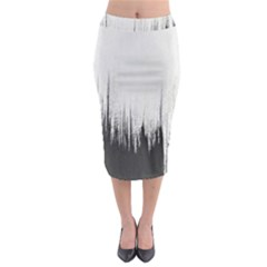 Simple Abstract Art Midi Pencil Skirt