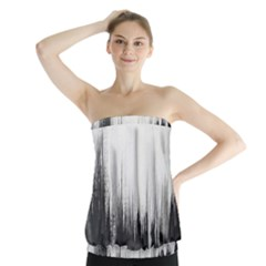 Simple Abstract Art Strapless Top