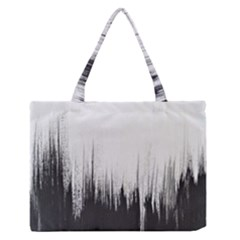 Simple Abstract Art Zipper Medium Tote Bag