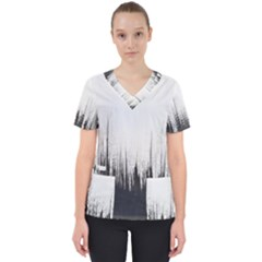 Simple Abstract Art Scrub Top