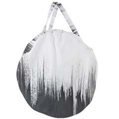 Simple Abstract Art Giant Round Zipper Tote