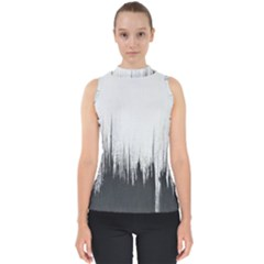 Simple Abstract Art Shell Top