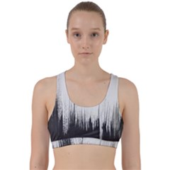 Simple Abstract Art Back Weave Sports Bra