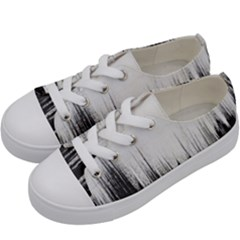 Simple Abstract Art Kids  Low Top Canvas Sneakers