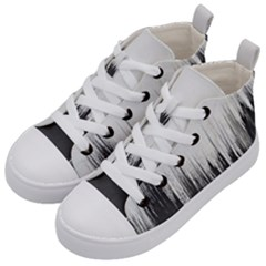 Simple Abstract Art Kid s Mid-Top Canvas Sneakers