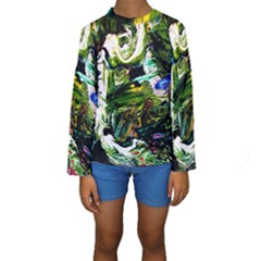 Bow Of Scorpio Before A Butterfly 8 Kids  Long Sleeve Swimwear