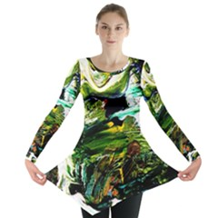 Bow Of Scorpio Before A Butterfly 8 Long Sleeve Tunic  by bestdesignintheworld