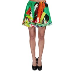 Tulips First Sprouts 7 Skater Skirt