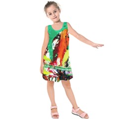 Tulips First Sprouts 7 Kids  Sleeveless Dress