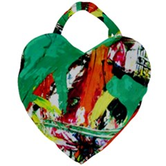Tulips First Sprouts 7 Giant Heart Shaped Tote