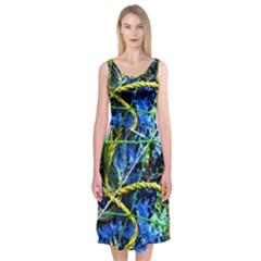 Moment Of The Haos 7 Midi Sleeveless Dress