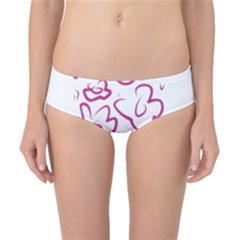 Flower Pink Classic Bikini Bottoms