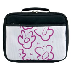 Flower Pink Lunch Bag