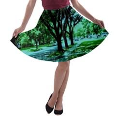 Hot Day In Dallas 5 A Line Skater Skirt by bestdesignintheworld