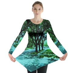 Hot Day In Dallas 5 Long Sleeve Tunic