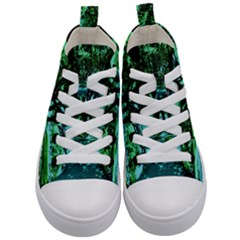 Hot Day In Dallas 5 Kid s Mid Top Canvas Sneakers