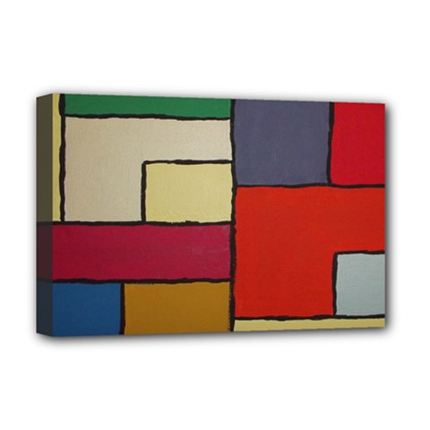 Color Block Art Painting Deluxe Canvas 18  X 12