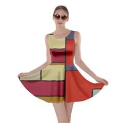 Color Block Art Painting Skater Dress